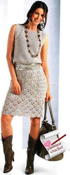 DE MIS MANOS TEJIDOS Y MAS...: Vestidos y faldas