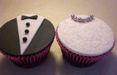 mm wedding themed cupcakes!