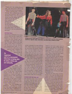 1992 - Dance Magazine - I Dance With Paula Abdul - Getting on an eighteen-month tour with a superstar 2