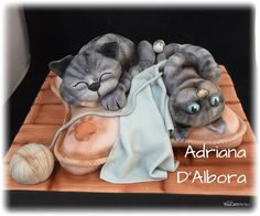 Kittens cake by Adriana D'Albora