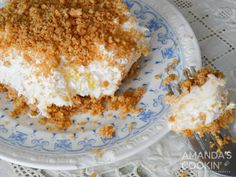 Pineapple dream is one of those perfect potluck desserts. Cream cheese, pineapple, whipped cream and graham crackers, yum! Pineapple Dream Cake, Macaroni Cheese Recipes, Potluck Desserts, Graham Crackers, Whipped Cream, Crockpot, Cake Recipes, French Toast, Salad