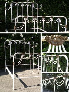 """Vintage French Iron Scrollwork Bed :: SOLD OUT :( 