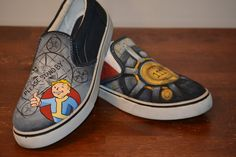 fallout 4 inspired shoes by RandomLoot on Etsy
