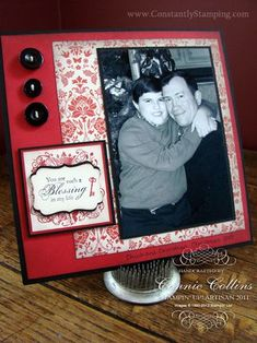 SAB 8x8 scrapbook page featuring Elementary Expressions stamp set and Everyday Enchantment designer series paper.