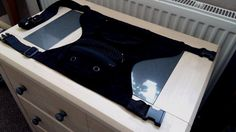 Corduroy Waist Black Belt Leg Drop Multi Pocket Bag   eBay