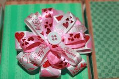 hair bow valentines day