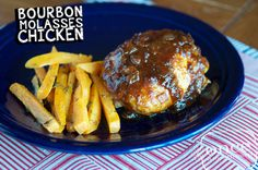 Bourbon Molasses Chicken Print  When it comes to chicken, I am a boneless skinless girl all the way.  Rarely do I vary into other parts o...