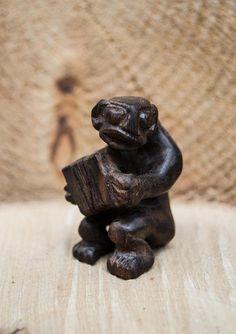 Macassar ebony wooden sculpture