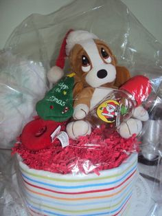 Check out this item in my Etsy shop https://www.etsy.com/listing/108729751/babys-1st-christmas-diaper-cake