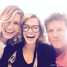 Pin for Later: This Huge One Tree Hill Reunion Will Give You the Warm and Fuzzies  Sophia Bush, Bethany Joy Lenz, and Paul Johansson smiled for the camera.