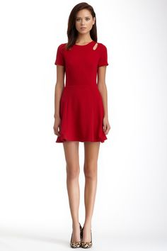 Textured Knit Cutout Skater Dress by LOVE...ADY on @nordstrom_rack