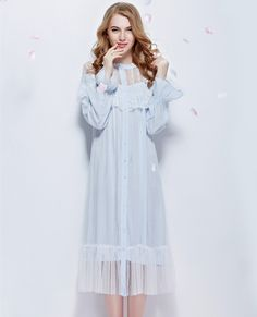 Find More Information about Nightgown Lace Bathrobe Round Neck long sleeve Sleepwear Queen Sleeping Dress Stargirl's Bedgown Ankle Length sleep wearing ,High Quality lace material wedding dresses,China lace stamp Suppliers, Cheap lace toy from Xiao O store on Aliexpress.com