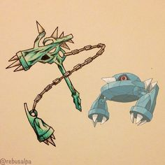 Pokeapon No. 375 - Metang. #pokemon #metang #hammer #pokeapon