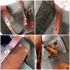 En Stock - Cabas Kaki & Leather (Pièce Unique) / SOben Store