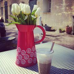 Love is:  Flowers, sun & coffee