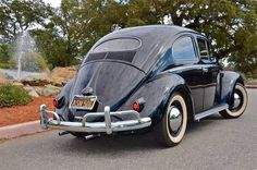 Black-Plate Oval 1957 VW Beetle