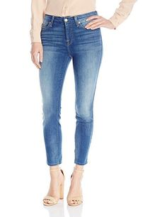 5b0b1516 7 For All Mankind Women's Kimmie Crop Supreme Vibrant Blue 27 29 30 NEW  #vibrant