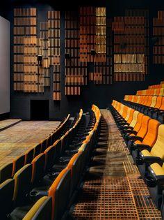 result for Music and Dance Centre, Soissons, 2015 - Henri Gaudin architecte Cinema Theatre, Theatre Design, Hall Design, Cinema Room, Auditorium Architecture, Cinema Architecture, Auditorium Design, Lecture Theatre, Hall Interior