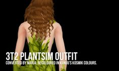 3t2 PLANTSIM OUTFIT RECOLOUR    Kiinuu's kosmik colours Converted by Marja, mesh included. The outfit is available for everyday and outerwear. Download (8.4 MB - SFS).