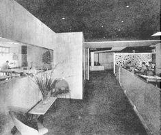 Paseo de la Reforma 367 esq Guadalquivir, Colonia Cuauhtemoc 1956 Arq Mario Pani Las oficinas del Conjunto decoradas por arturo Pani 1956