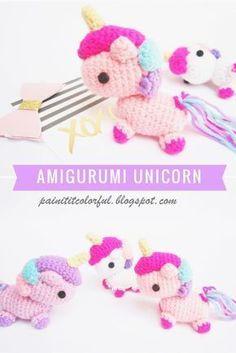 Amigurumi unicorn free pattern
