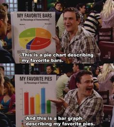 """When Marshall shared his very important data.   26 """"How I Met Your Mother"""" Moments Guaranteed To Make You Laugh Every Time"""