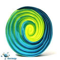 Blue and green swirl cane | Flickr - Photo Sharing!