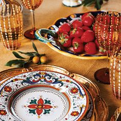 Gypsy Purple: Entertaining and event find: Some fabulous Italian dinnerware....