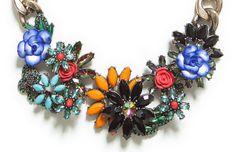 Zara floral necklace