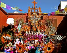 dios de los muertos in san miguel- i have to make it back! Bringing Out The Dead, Catholic Holidays, Latino Art, Living In Mexico, Mexican Holiday, All Souls Day, Day Of The Dead Art, All Saints Day, Installation Art