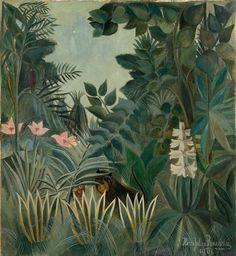 Henri Rousseau   The Equatorial Jungle (1909)   Artsy