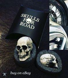 skulls for road, gift pack, black skull, buy on eBay, tire valve caps Black Skulls, Harley Davidson, Cool Stuff, Stuff To Buy, Cap, Bike, Instagram Posts, Handmade, Gifts