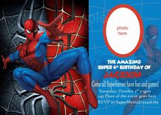 Spiderman theme Party Ideas New Editable Spiderman Birthday Invitation New 2018 Spiderman Theme Party, Spiderman Birthday Invitations, Invitation Maker, Printable Birthday Invitations, Invitation Cards, Wedding Invitations, Invitation Ideas, Design, 3rd Birthday