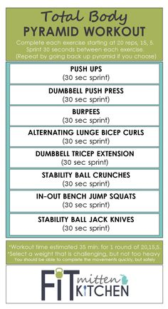 TOTAL BODY PYRAMID WORKOUT [Fit Mitten Kitchen]