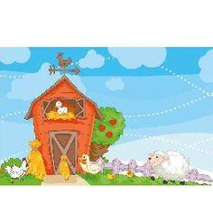 Animal Wall Mural- Barn Animals Kids Wall Murals, Barn Animals, Wallpaper Murals, Nursery Decor, Decorating, Usa, Children, Murals, Decor