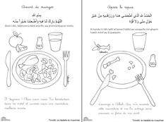 doua manger Islamic Books For Kids, Islam For Kids, Learning To Write, Learning Arabic, Baby Learning, Religious Education, Kids Education, Ramadan Activities, Activities For Kids