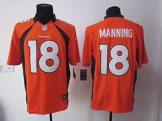 Denver Broncos  18 Peyton Manning Limited Nike NFL Jersey In Orange Memphis  Grizzlies cd3dbd5a06e