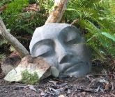 Sacred Stone Medium Buddha Fragment Garden Sculpture