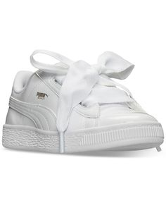 3d5a6aeac18 Puma Little Girls' Basket Heart Patent Casual Sneakers from Finish Line &  Reviews - Finish Line Athletic Shoes - Kids - Macy's