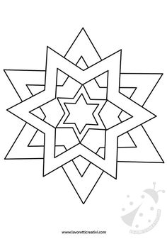 STAR TO CUT outline star shape useful for creating a box with . STAR TO CUT Star shape, which is useful for designing a Christmas decoration with cardboard to hang Star Coloring Pages, Coloring Books, Christmas Templates, Christmas Crafts, Wood Carving Patterns, Faux Stained Glass, Barn Quilts, Mandala Coloring, Mosaic Patterns