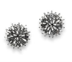"A PAIR OF DIAMOND AND BLACK DIAMOND ""HEDGEHOG"" EAR CLIPS, BY JAR"