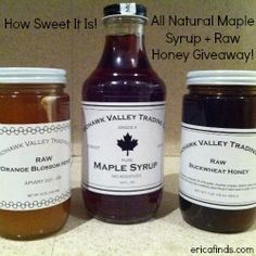 Nature's Candy – Maple Syrup and Raw Honey Review + #Giveaway