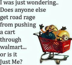 Minions funny road rage Walmart shopping cart