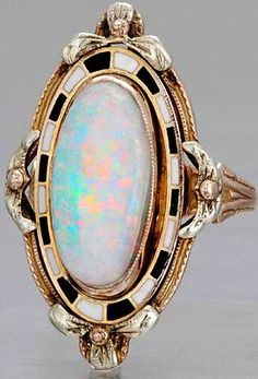 Art Deco Opal Ring