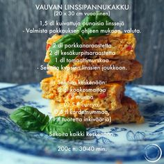 Vauvan linssipannukakku Kids And Parenting, Baby Food Recipes, Curry, Health Fitness, Menu, Babys, Baby Shower, Child, Gourmet