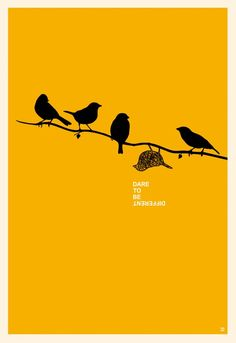 Dare To Be Different Poster Motivational Minimalist Poster - Dare To Be Different Minimalist Poster By Toni Danilovic Dare To Be Different Poster Motivational Minimalist Poster Bird Wall Art Motivational Wall Art High Quality Digital File City Poster, Jazz Poster, Poster Art, Kunst Poster, Typography Poster, Poster Prints, Poster Ideas, Wall Prints, Design Typography