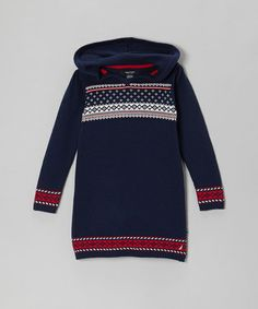 Take a look at this Navy Blue Sweater Dress - Infant, Toddler & Girls by Nautica on #zulily today!