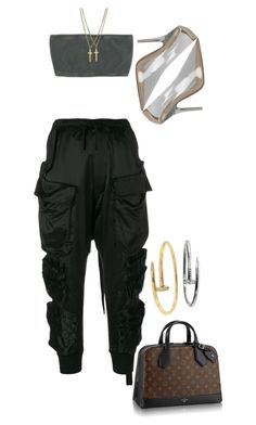 """Untitled #346"" by cryamilet19 on Polyvore featuring Unravel, Louis Vuitton, Dsquared2 and Cartier"
