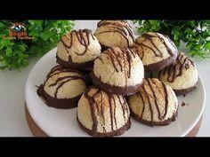 Cele mai bune și delicioase cookie-uri pe care le puteți face cu doar 3 ingrediente! Cookie-uri Coco - YouTube Coco Cookies, Yummy Cookies, Cookie Recipes, Dessert Recipes, Desserts, Biscuit Coco, Biscuits, Arabian Food, Kinds Of Cookies