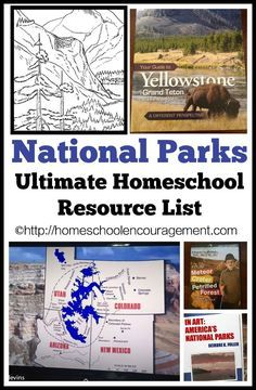 Parks: An Ultimate Homeschool Resource List National Parks - Resource List for Homeschooling Families or LearningNational Parks - Resource List for Homeschooling Families or Learning Homeschool Curriculum, Homeschooling Resources, Teaching Resources, Just Dream, Kids Education, History Education, History Class, Teaching History, Summer School